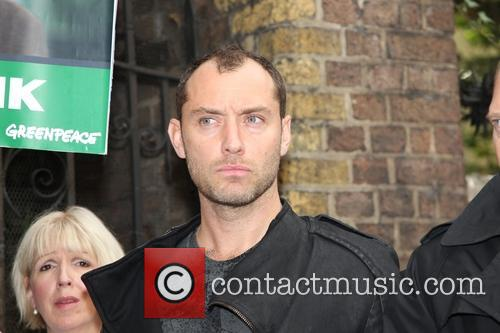 Jude Law and Damon Albarn attend the 'Free 30' Greenpeace demo