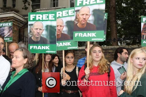 Celebrities attend the 'Free 30' Greenpeace demo