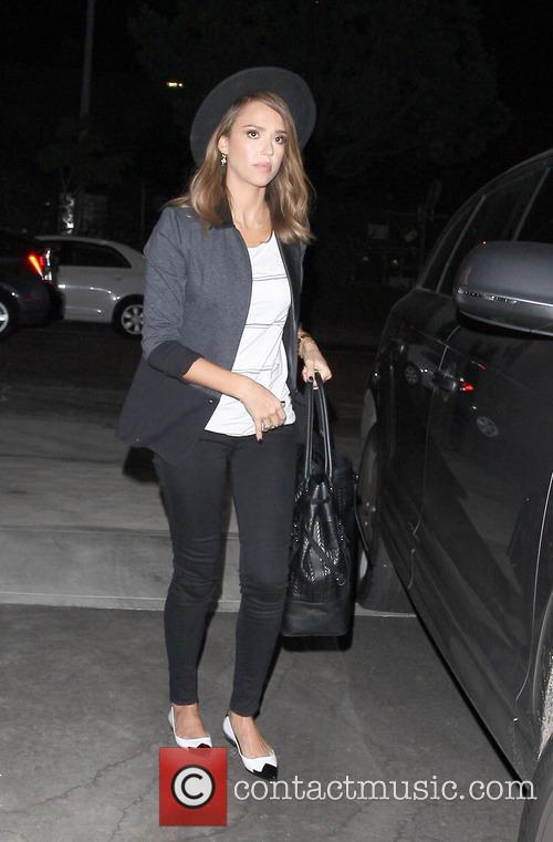 Jessica Alba seen arriving to a studio