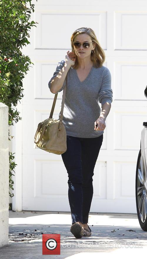 Reese Witherspoon visits a friend in Brentwood