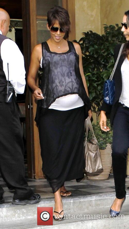 Halle Berry leaving RivaBella in West Hoolywood