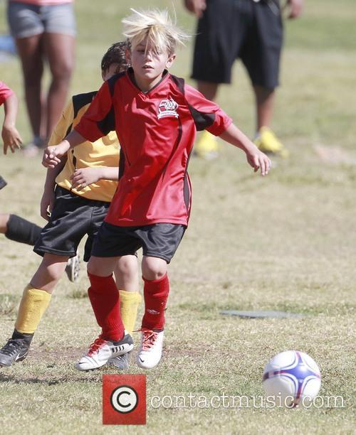 Gavin Rossdale watches son Kingston play soccer