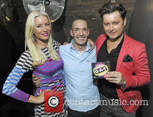 Denise Van Outen, Jeremy Joseph and Brian Dowling 2