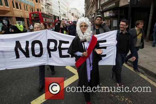 DPAC and UK Uncut protest