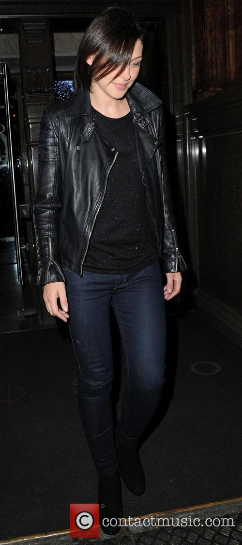 emma willis celebrities outside manchesters rosso restaurant 3892984