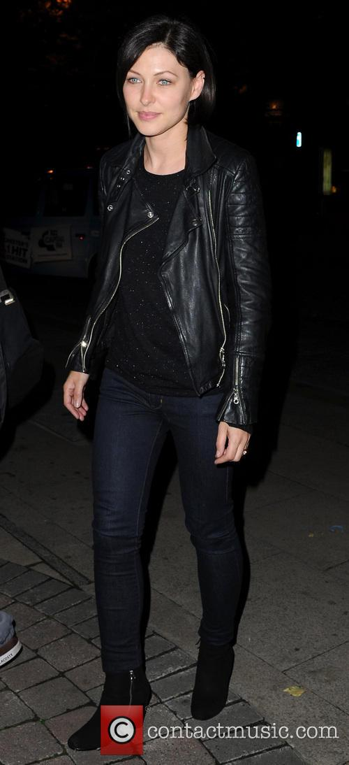 emma willis celebrities outside manchesters rosso restaurant 3892990