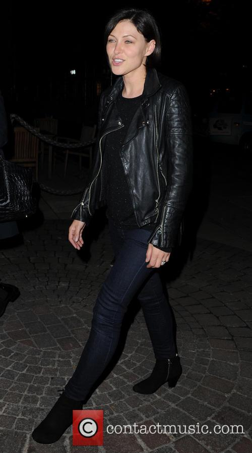 emma willis celebrities outside manchesters rosso restaurant 3892992