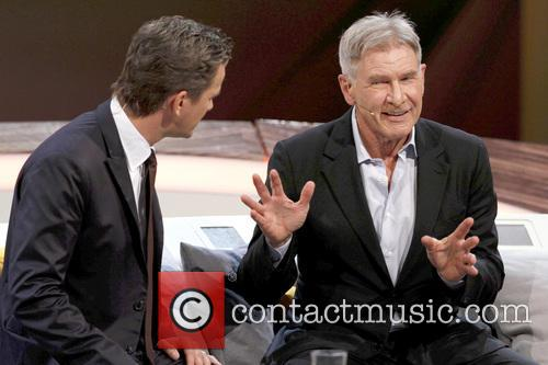 Markus Lanz and Harrison Ford 2