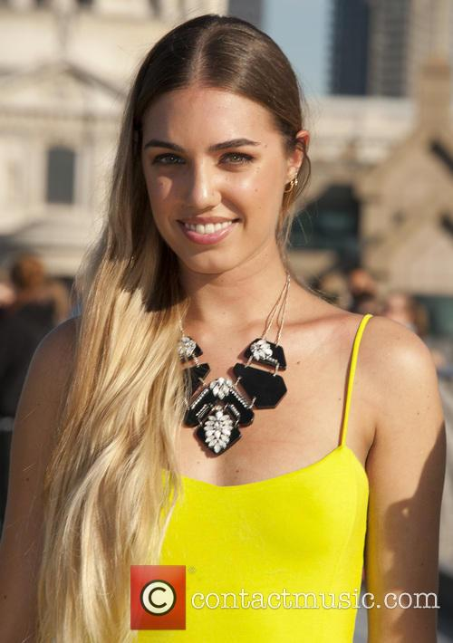Amber Le Bon attends a photocall to launch...