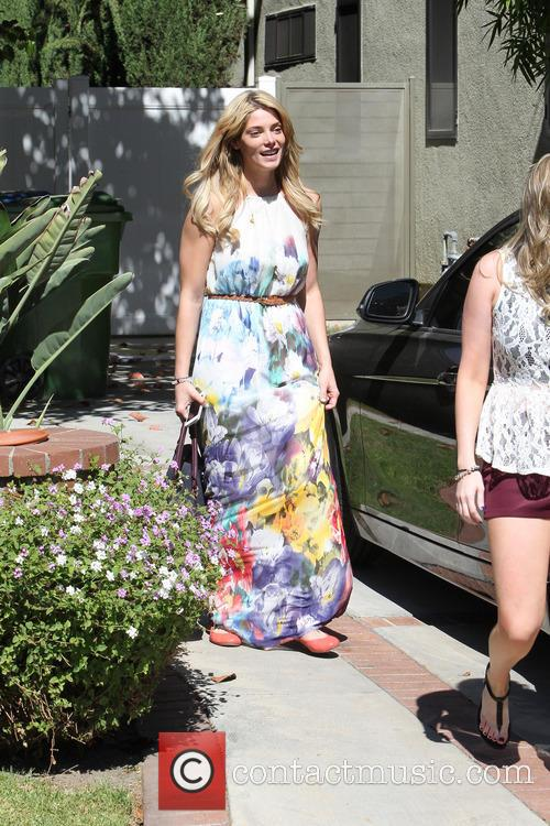 Ashley Greene In Floral Maxi Dress