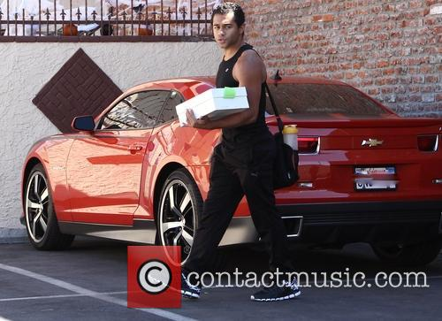 Corbin Bleu Arrives For DWTS Rehearsals