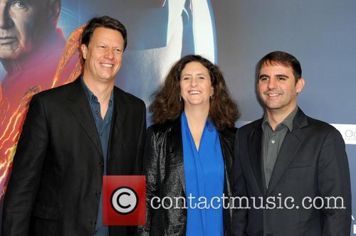 Gavin Hood, Gigi Pritzker and Roberto Orci 2