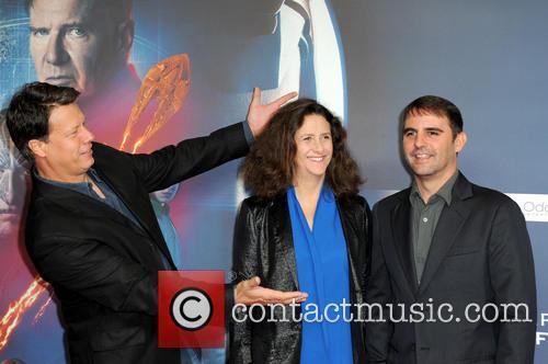 Gavin Hood, Gigi Pritzker and Roberto Orci 3