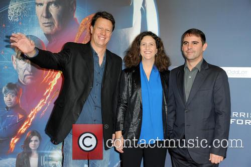 Gavin Hood, Gigi Pritzker and Roberto Orci 1