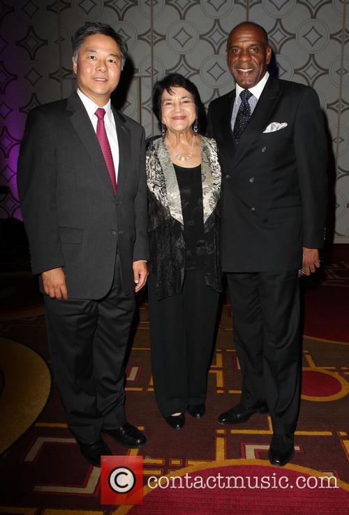 Bradford, Senator Ted Lieu and Dolores Huerta 4