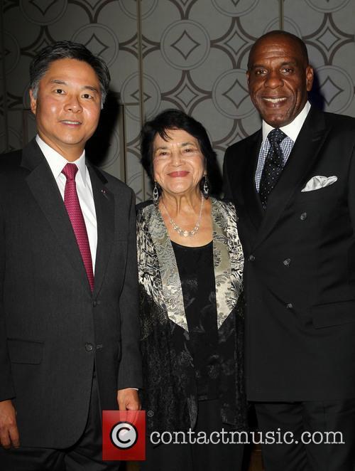 Bradford, Senator Ted Lieu and Dolores Huerta 5