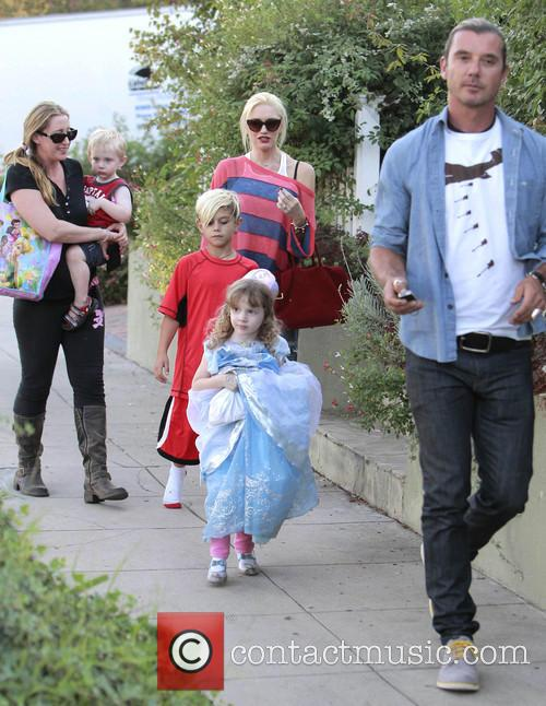 Kingston Rossdale, Gwen Stefani and Gavin Rossdale 2