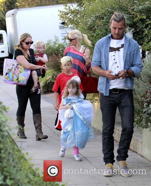 Kingston Rossdale, Gwen Stefani and Gavin Rossdale 3