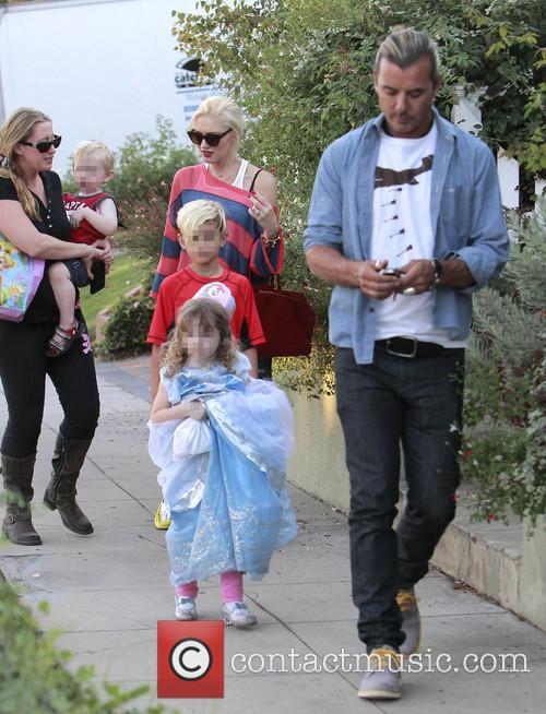 Kingston Rossdale, Gwen Stefani and Gavin Rossdale 1