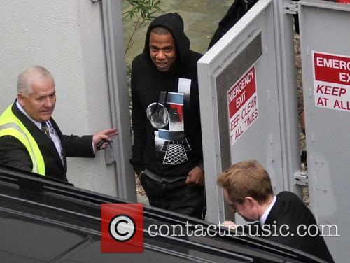 Jay Z arrives at Dublin airport