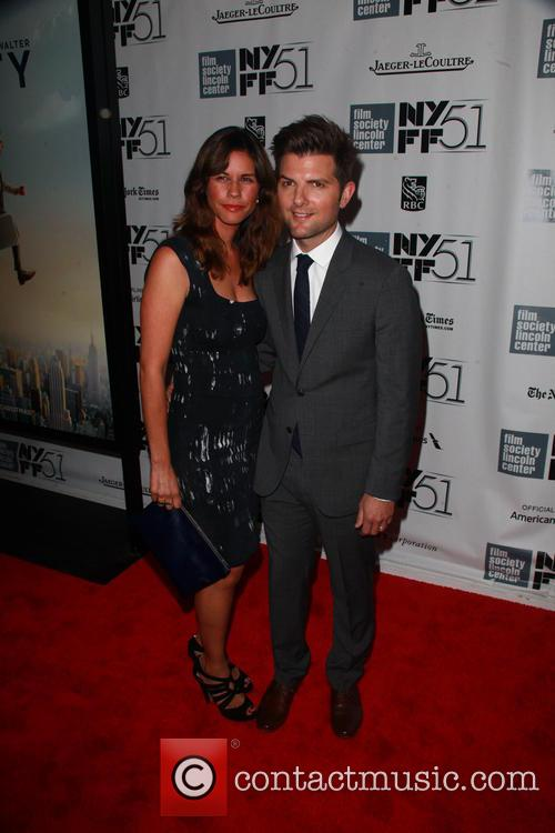 Naomi Scott and Adam Scott
