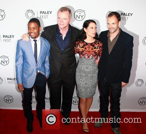 L To R, Jon Michael Hill, Aidan Quinn, Lucy Liu and Jonny Lee Miller 3