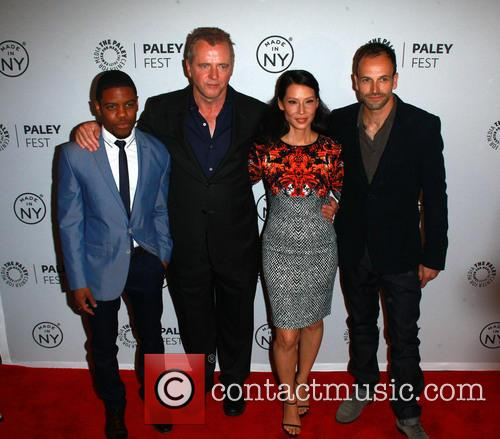 L To R, Jon Michael Hill, Aidan Quinn, Lucy Liu and Jonny Lee Miller