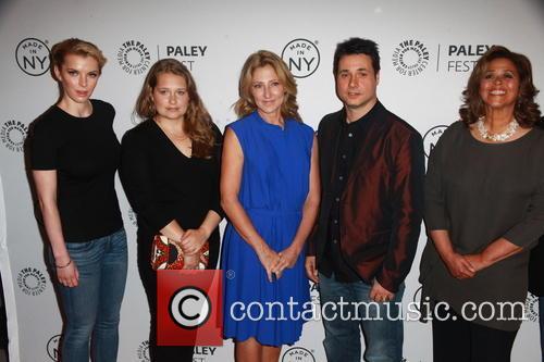 L To R, Betty Gilpin, Merritt Wever, Edie Falco, Adam Ferrara and Anna Devere Smith 3