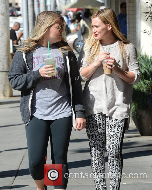 Hilary Duff leaving Starbucks in Beverly Hills