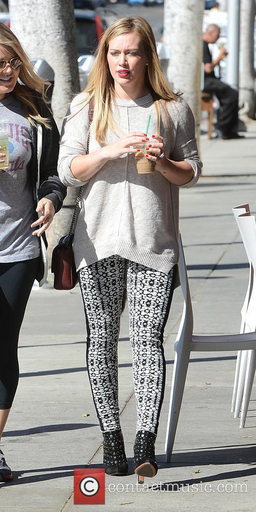 Hilary Duff leaving Starbucks in Beverly Hills