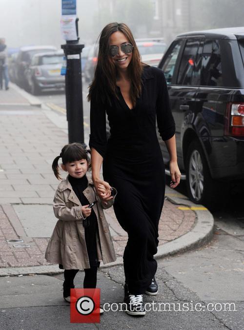 Myleene Klass and her daughter Hero seen out...