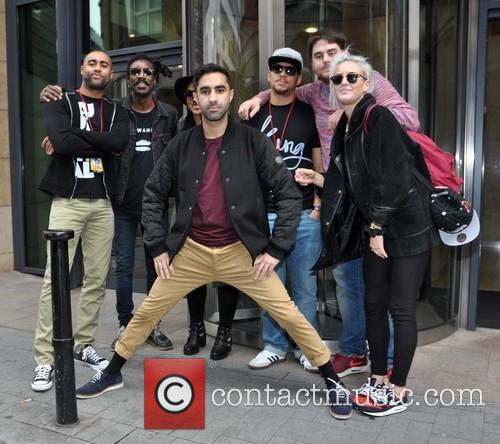 British electronic music quartet Rudimental outside Today FM