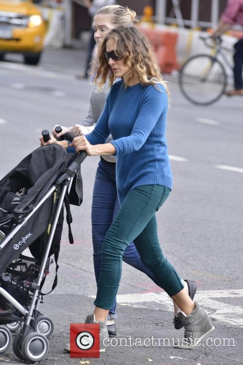 Sarah Jessica Parker walks her children to school