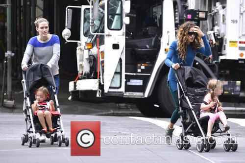 Sarah Jessica Parker walks her children to school