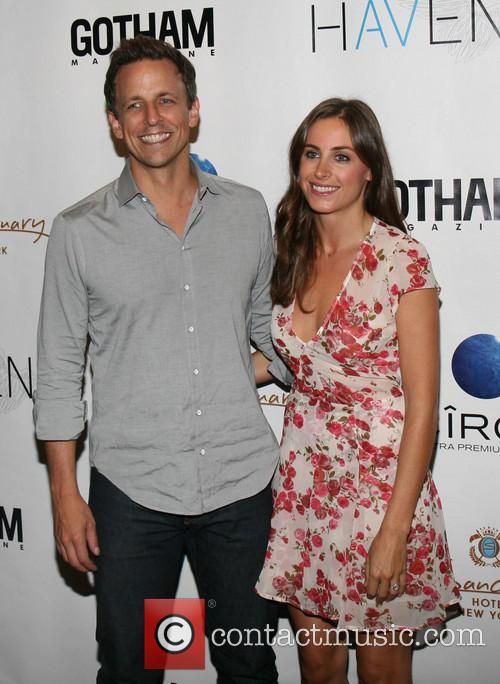 Seth Meyers and Alexi Ashe 2