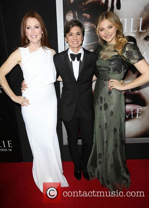 Julianne Moore, Kimberley Pierce and Chloe Moretz