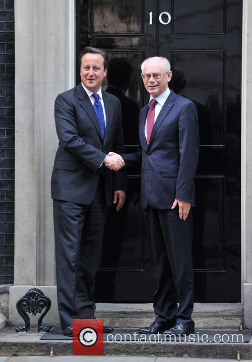 David Cameron and Herman Von Rompuy 8