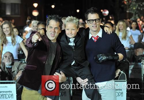 Johnny Knoxville, Jeff Tremaine and Jackson Nicoll 2