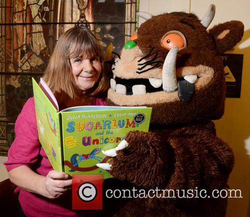 Julia Donaldson signs copies of her book 'Sugarlump...