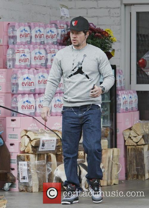 Mark Wahlberg Leaving Bristol Farms