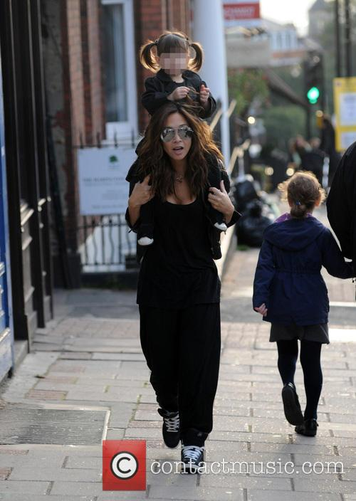 Myleene Klass out and about with her daughter