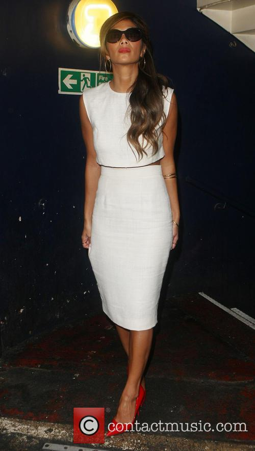 Nicole Scherzinger leaving Cafe de Paris