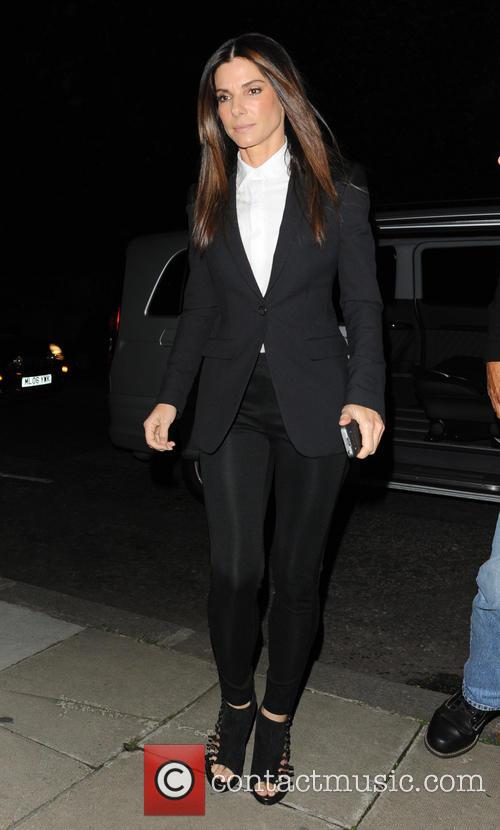 Sandra Bullock Leaving Film Screening