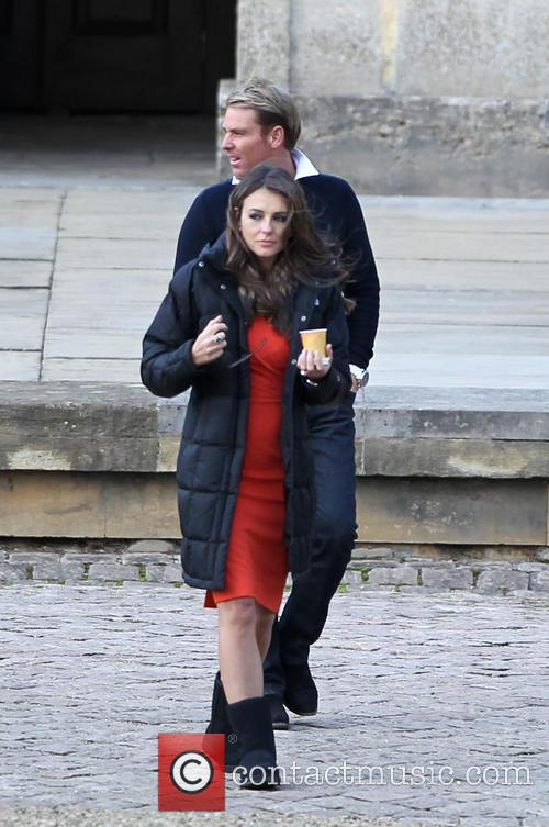 Filming on the set of 'The Royals' for...