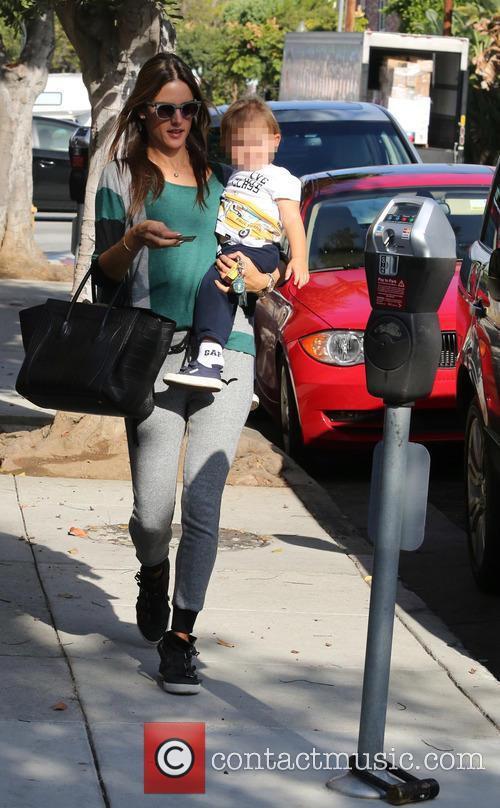 Alessandra Ambrosio with son Noah