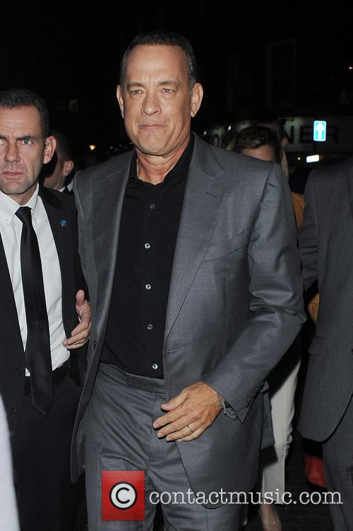 Tom Hanks leaving Claridge's