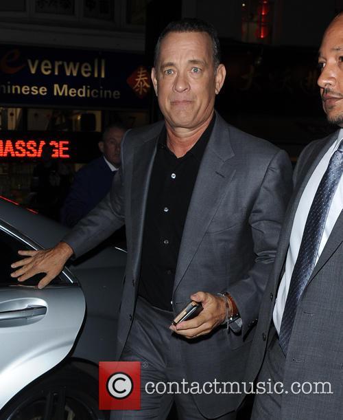 Tom Hanks leaving Claridge's