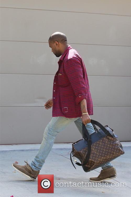 Kanye West Leaving His Office