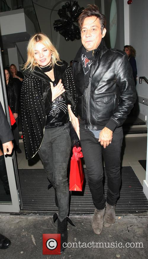 Kate Moss and Jamie Hince Leaving Rimmel Party