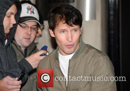 James Blunt pictured at the BBC